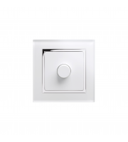 Retro Touch Crystal 1G 2 Way Rotary LED Dimmer Switch (White CT)