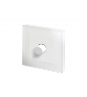 Retro Touch Crystal 1G 2 Way Rotary LED Dimmer Switch (White PG)