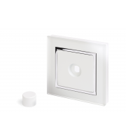 Retro Touch Crystal 1G LED Dimmer Plate (White CT)
