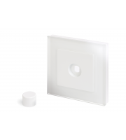 Retro Touch Crystal 1G LED Dimmer Plate (White PG)