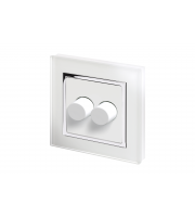 Retro Touch Crystal 2G 2 Way Rotary LED Dimmer (White CT)