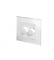 Retro Touch Crystal 2G 2 Way Rotary LED Dimmer (White PG)