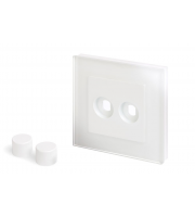 Retro Touch Crystal 2G LED Dimmer Plate (White PG)
