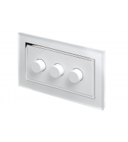 Retro Touch Crystal 3G 2 Way Rotary LED Dimmer (White CT)