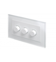Retro Touch Crystal 3G 2 Way Rotary LED Dimmer (White PG)
