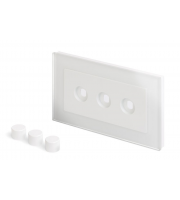 Retro Touch Crystal 3G LED Dimmer Plate (White PG)