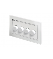 Retro Touch Crystal 4G 2 Way Rotary LED Dimmer (White CT)