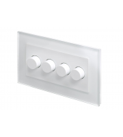 Retro Touch Crystal 4G 2 Way Rotary LED Dimmer (White PG)