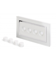 Retro Touch Crystal 4G LED Dimmer Plate (White CT)