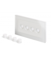 Retrotouch Crystal 4G LED Dimmer Plate (White PG)