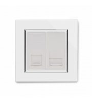 Retrotouch Crystal Ct CAT5e / Bt Master Tel Socket (White)
