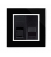 Retrotouch Crystal Ct CAT5e / Bt Master Tel Socket (Black)