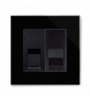 Retrotouch Crystal Pg CAT5e / Bt Master Tel Socket (Black)