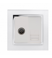 Retrotouch Crystal Ct Tv / Bt Master Tel Socket (White)