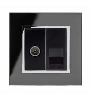 Retrotouch Crystal Pg Tv/master Socket (Black)