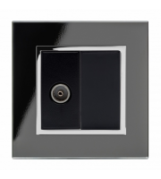 Retrotouch Crystal Ct Tv Socket (Black)