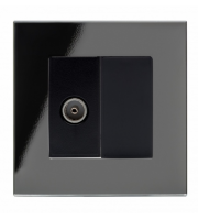 Retrotouch Crystal Pg Tv Socket (Black)