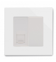 Retrotouch Crystal Pg RJ11 Socket (White)