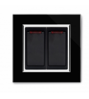 Retrotouch Crystal 20A Dual Switch With Neon (Black CT)