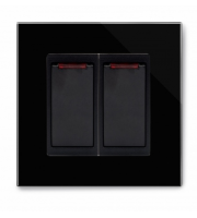 Retrotouch Crystal 20A Dual Switch With Neon (Black PG)