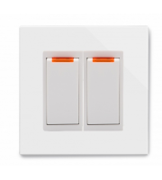 Retrotouch Crystal 20A Dual Switch With Neon (White PG)