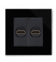 Retrotouch Crystal Pg Dual Hdmi Socket (Black)