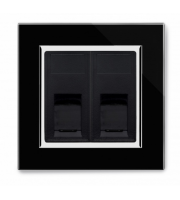 Retrotouch Crystal Dual CAT6e Socket (Black CT)
