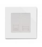 Retrotouch Crystal CAT5e / Bt Slave Socket (White PG)