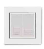 Retrotouch Crystal CAT5e / Bt Slave Socket (White)