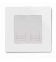 Retrotouch Crystal Pg Bt Master/bt Slave Telephone Socket (White)