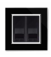 Retrotouch Crystal Ct Bt Master/bt Slave Telephone Socket (Black)