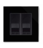 Retrotouch Crystal Pg Bt Master/bt Slave Telephone Socket (Black)