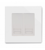 Retrotouch Crystal Dual Bt Slave Telephone Socket (White)
