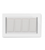 Retrotouch Crystal Ct 4 Gang 2 Way Double Plate (White)