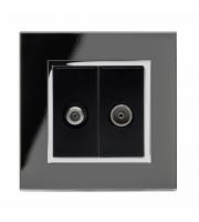 Retrotouch Crystal Ct Satellite / Tv Socket (Black)
