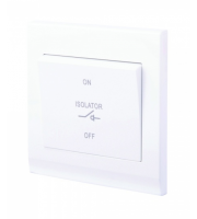 Retrotouch Simplicity 3 Pole Fan Isolator Switch (White)