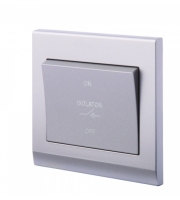 Retrotouch Simplicity 3 Pole Fan Isolator Switch Mid (Grey)