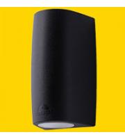 FUMAGALLI MARTA 90 1L BLACK FROSTED GU10 LED 3,5W CCT SET FUMAGALLI WALL LIGHT (Black)