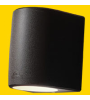 FUMAGALLI MARTA 160 1L BLACK FROSTED GX53 LED 10W CCT SET FUMAGALLI WALL LIGHT (Black)