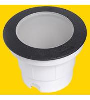 FUMAGALLI CECI 160 BLACK FROSTED GX53 LED 10W CCT SET FUMAGALLI GROUNDLIGHT (Black)
