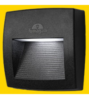 Fumagalli Lorenza 150 Black Clear R7s Led 4w 4k Fumagalli Wall Light (Black)