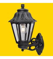 Fumagalli Bisso/anna Black Clear E27 Fumagalli Classic Lantern Small (Black)