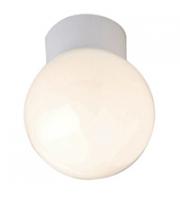 Robus GLOBE 60W bathroom ceiling light, IP44, 100mm, WhiteBox Quantities of 16 only