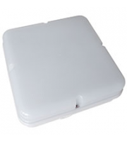 Robus COMPACT 10W LED fitting,Square,Opal Prismatic Diffuser,IP65, 253x92mm, White