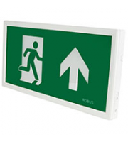 Robus Rex 3.5W Maintained Slim Exit Box, Self Test, C/w Up, Down, Left, Right Legends [white]