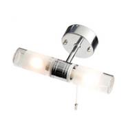 Robus Canon 25W G9 Twin Bathroom Wall Light, IP44, Chrome