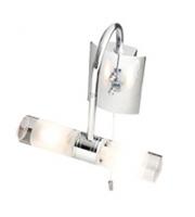 Robus Canon 25W G9 Swan Neck Bathroom Wall Light, IP44, Chrome