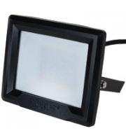 Robus HiLume 100W LED flood light, IP65, Black, 3000K, c/w 1m flex (Black)