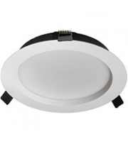 Robus MIRA 18W and 24W dual wattage CCT4 selectable dimmable LED downlight, White, 3000K,4000K,5000K,6500K