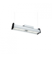 Robus PRISMOID 120W LED linear high bay, IP65, 1-10V dimmable, Silver, 590mm, 5000K + PIR/MW (15M Max)